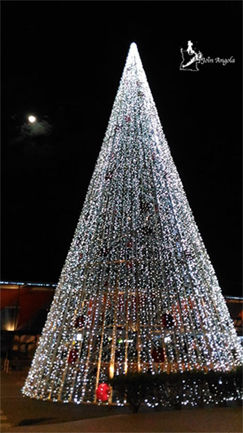 The Christmas tree in Xiami shopping centre, in Benguela