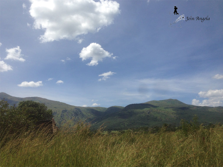 The landscape driving from Cubal to Ganda, in the Benguela province.