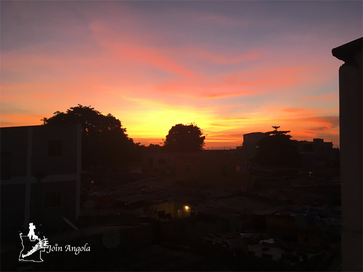 The Angolan sky during a sunset, in Luanda.