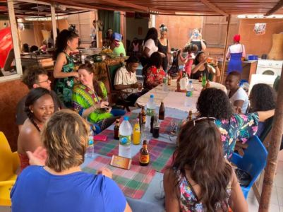 Ana's grandma hosted all the visitors for an authentic Angolan Lunch at her house.