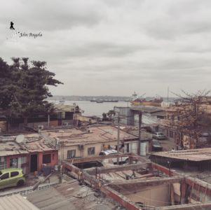 Another view over one of the Barrios (Neighbourhoods) in the Ilha de Luanda, overlooking the harbour.