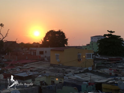 Sunset seen from the roofs of Luanda.