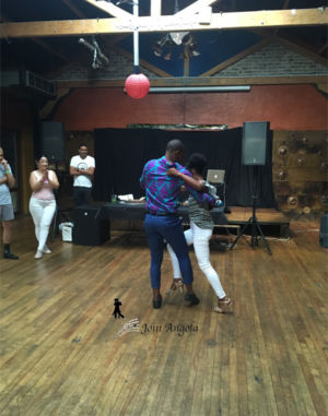 Ana and Criso in Johannesburg, South Africa, showing off their skills at a workshop.
