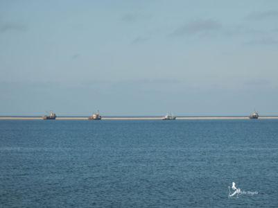 Angola has its Skeleton Coast too! Several ships were stranded off Tombwa bay